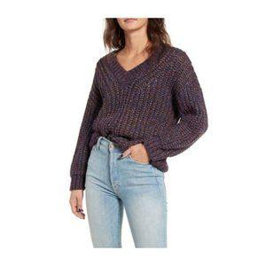 COTTON EMPORIUM Metallic Shaker Stitch Sweater